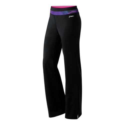 Womens ASICS Abby Pant Full Length Pants - Black/Jewel XS