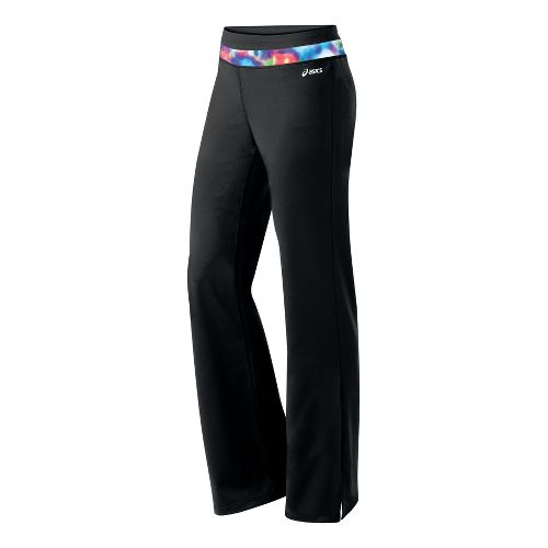 Womens ASICS Abby Pant Full Length Pants - Black/Multi Color XL