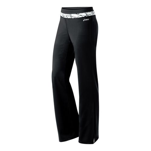Womens ASICS Abby Pant Full Length Pants - Black/White XS