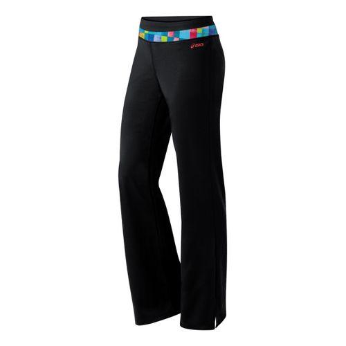 Womens ASICS Abby Pant Full Length Pants - Tetris Print/Black XL