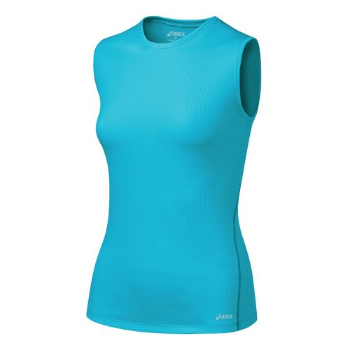Womens ASICS Core Tank Tanks Technical Tops - Aqua XS