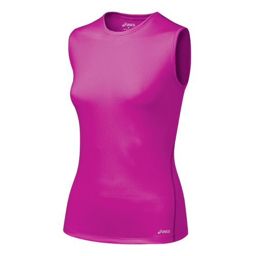 Womens ASICS Core Tank Tanks Technical Tops - Rose Violet M
