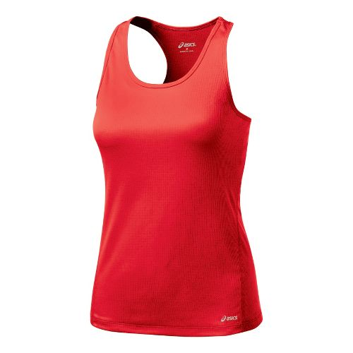 Womens ASICS Core Shimmel Tanks Technical Tops - Ruby M