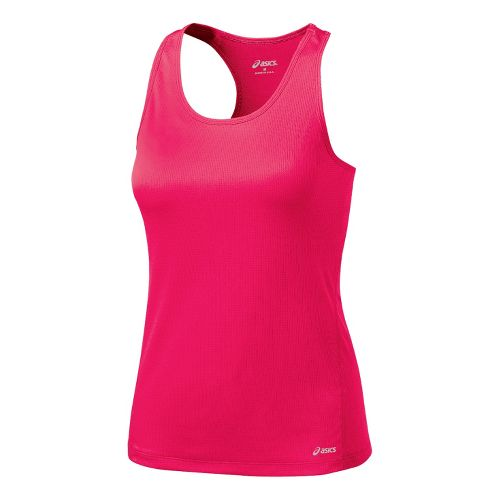 Womens ASICS Core Shimmel Tanks Technical Tops - Watermelon XS