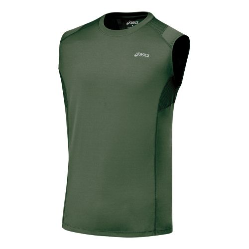 Mens ASICS Favorite Sleeveless Sleeveless Technical Tops - Urban XL