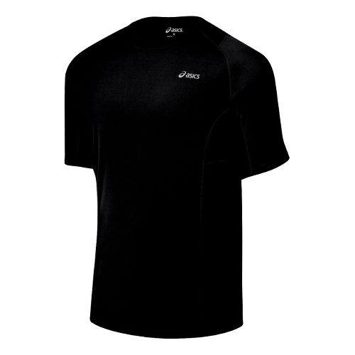 Mens ASICS Favorite Short Sleeve Short Sleeve Technical Tops - Black S