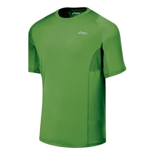 Mens ASICS Favorite Short Sleeve Short Sleeve Technical Tops - Fairway XL