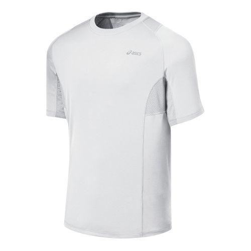 Mens ASICS Favorite Short Sleeve Short Sleeve Technical Tops - White L