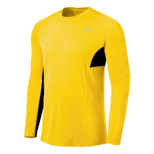 Mens ASICS Favorite Long Sleeve Long Sleeve No Zip Technical Tops - Bronze/Iron M