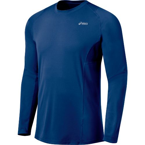 Mens ASICS Favorite Long Sleeve Long Sleeve No Zip Technical Tops - Estate L