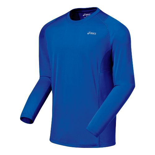 Mens ASICS Favorite Long Sleeve Long Sleeve No Zip Technical Tops - Fresh Blue M ...