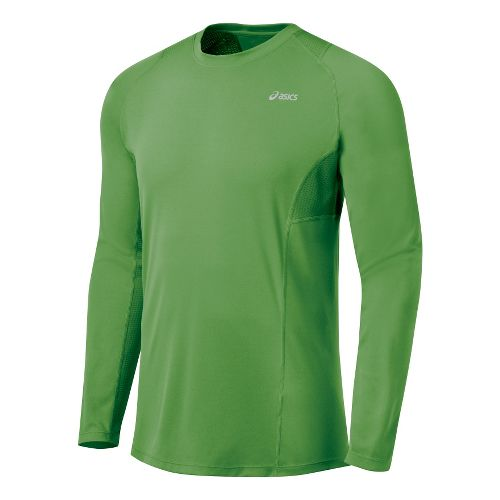 Mens ASICS Favorite Long Sleeve Long Sleeve No Zip Technical Tops - Fairway M