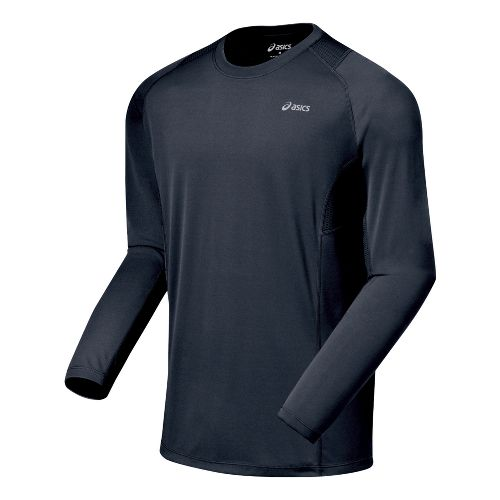 Mens ASICS Favorite Long Sleeve Long Sleeve No Zip Technical Tops - Iron S