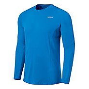 Mens ASICS Favorite Long Sleeve Long Sleeve No Zip Technical Tops