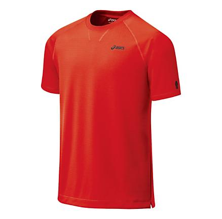 Mens ASICS ecoline Waffle Short Sleeve Technical Tops