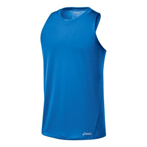 Mens ASICS Core Singlets Technical Tops - Electric M