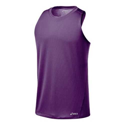 Mens ASICS Core Singlets Technical Tops - Grape L