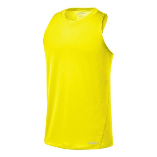 Mens ASICS Core Singlets Technical Tops - Neon S
