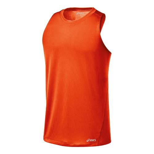 Mens ASICS Core Singlets Technical Tops - Radiant S