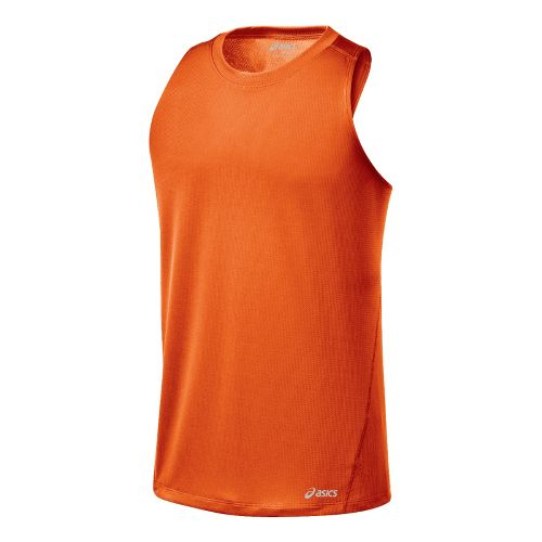 Mens ASICS Core Singlets Technical Tops - Zest S