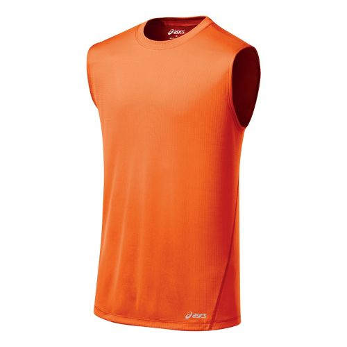 Mens ASICS Core Tanks Technical Tops - Blaze S
