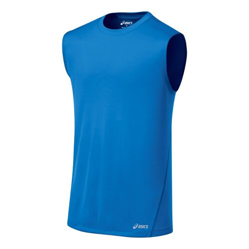 Mens ASICS Core Tanks Technical Tops - Electric L