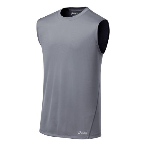 Mens ASICS Core Tanks Technical Tops - Frost M