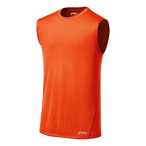 Mens ASICS Core Tanks Technical Tops - Radiant S