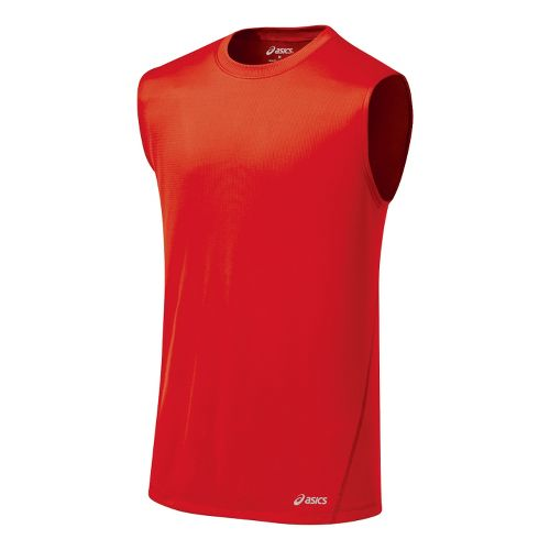 Mens ASICS Core Tanks Technical Tops - Red Pepper XXL
