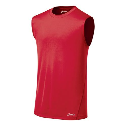 Mens ASICS Core Tanks Technical Tops - True Red S