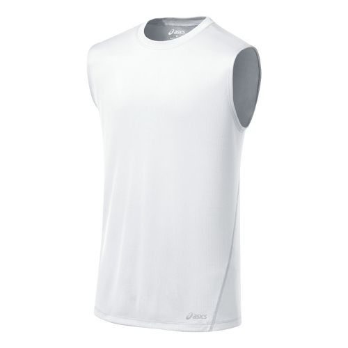 Mens ASICS Core Tanks Technical Tops - White M