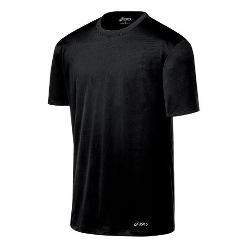 Mens ASICS Core Short Sleeve Technical Tops - Black L