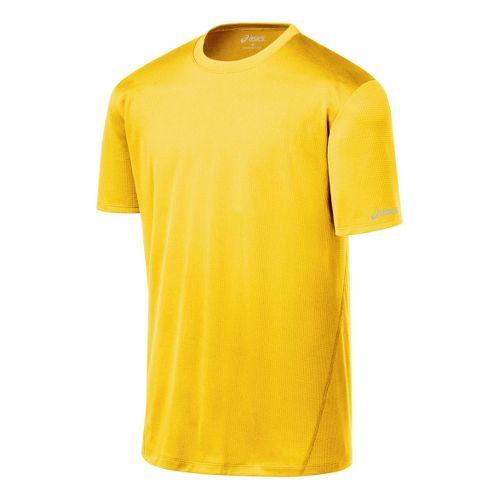 Mens ASICS Core Short Sleeve Technical Tops - Bronze XXL