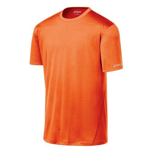 Mens ASICS Core Short Sleeve Technical Tops - Blaze XL