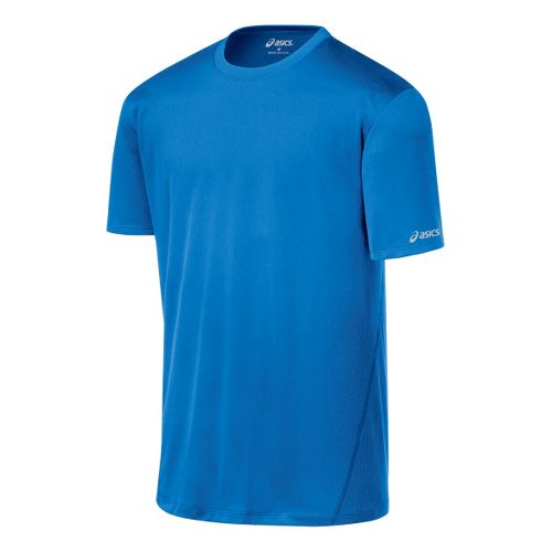 Mens ASICS Core Short Sleeve Technical Tops - Electric XL