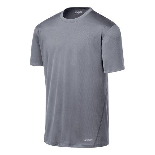 Mens ASICS Core Short Sleeve Technical Tops - Frost L