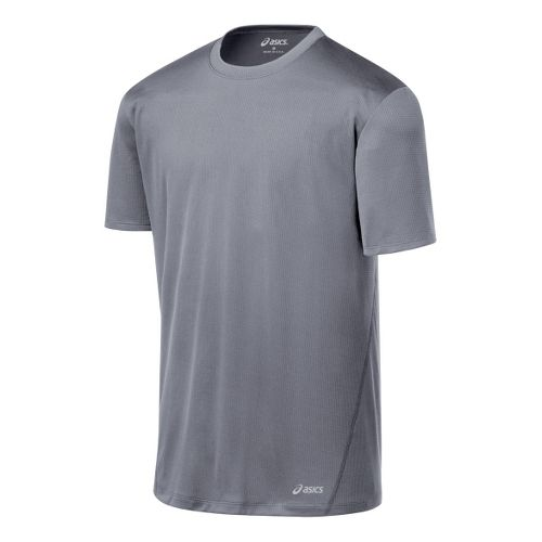 Mens ASICS Core Short Sleeve Technical Tops - Frost M