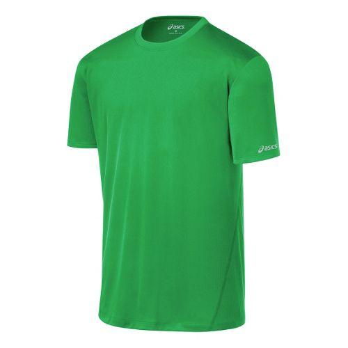 Mens ASICS Core Short Sleeve Technical Tops - Go Green XL