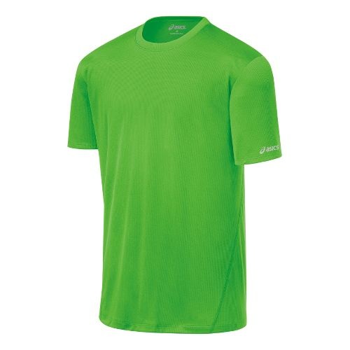 Mens ASICS Core Short Sleeve Technical Tops - Green Gecko XL