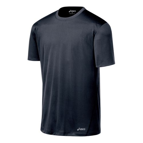 Mens ASICS Core Short Sleeve Technical Tops - Iron S