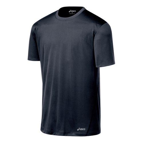 Mens ASICS Core Short Sleeve Technical Tops - Iron XXL