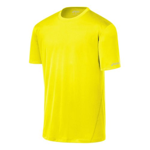 Mens ASICS Core Short Sleeve Technical Tops - Neon XL