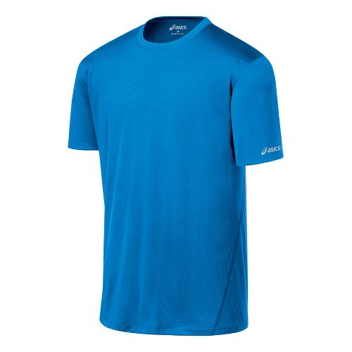 Mens ASICS Core Short Sleeve Technical Tops - Pacific Blue L