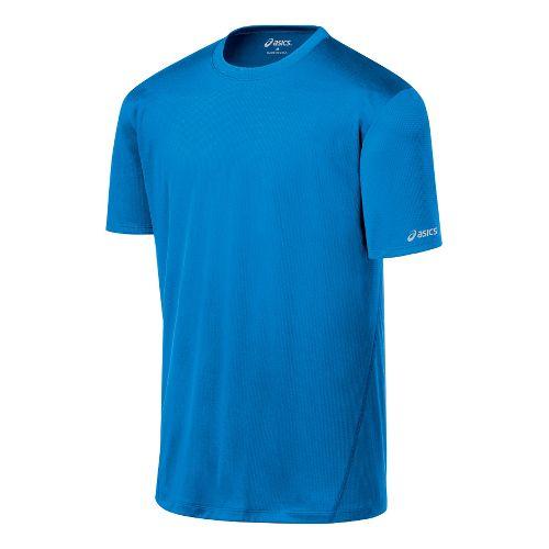 Mens ASICS Core Short Sleeve Technical Tops - Pacific Blue M