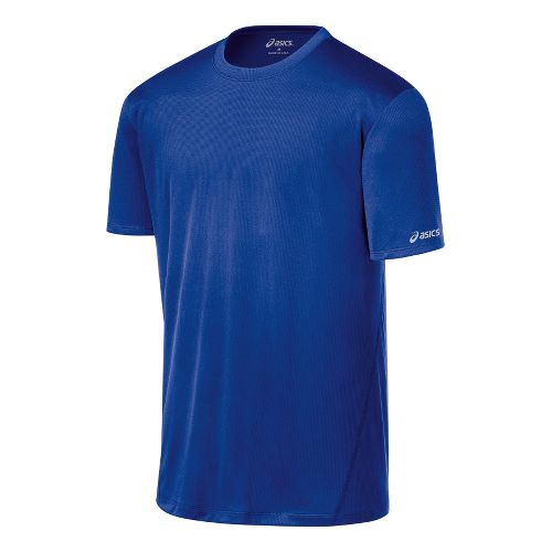 Mens ASICS Core Short Sleeve Technical Tops - Surf M