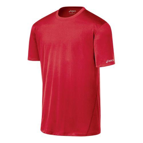 Mens ASICS Core Short Sleeve Technical Tops - True Red XXL