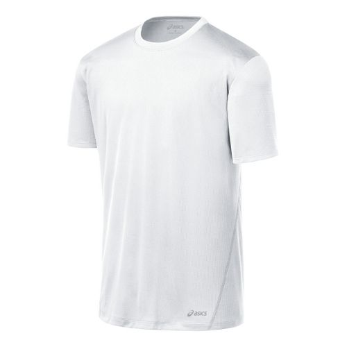 Mens ASICS Core Short Sleeve Technical Tops - White XXL