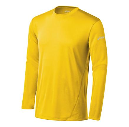 Mens ASICS Core Long Sleeve No Zip Technical Tops