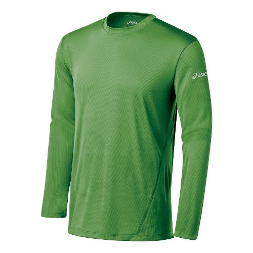 Mens ASICS Core Long Sleeve No Zip Technical Tops - Fairway XXL