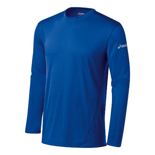 Mens ASICS Core Long Sleeve No Zip Technical Tops - New Blue M